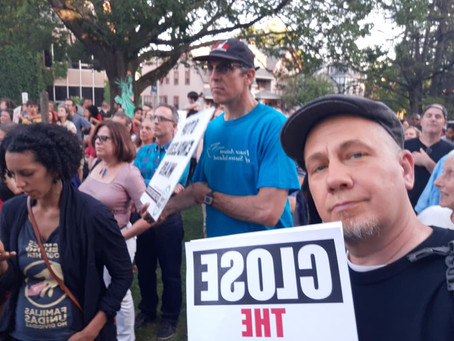 North Jersey Socialists Join Montclair Lights for Liberty Event