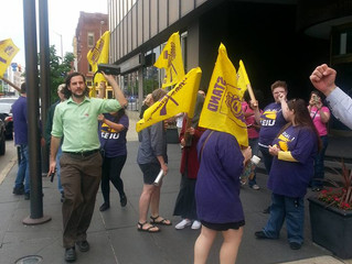 Greater Indianapolis SPUSA Joins SEIU and Jobs for Justice in the Fight for Fair Wages