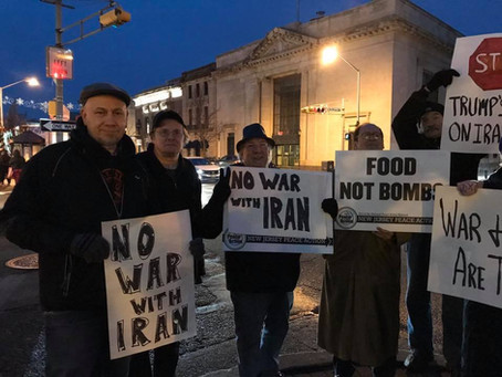 No War with Iran! Stop Endless Wars! Socialists Join Anti-War Actions