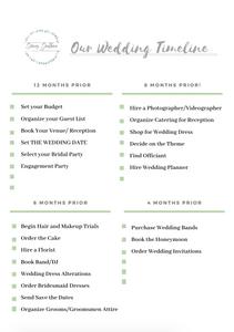 Wedding Timeline & Checklist }