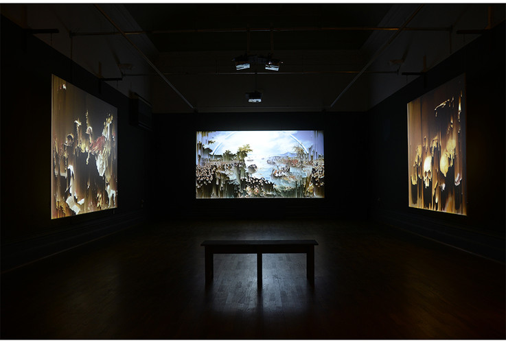 Video Installation, 'Here Be Dragons', Nottingham Castle, UK 2016