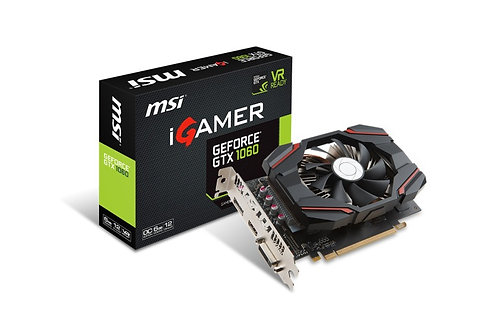 Placa de vídeo MSI iGAMER GTX 1060 6GB OC GDDR5 192Bits