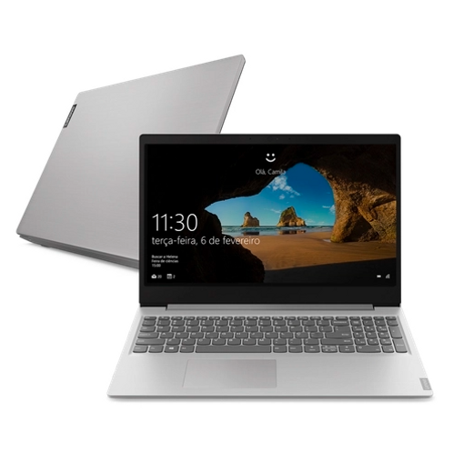 "Notebook Lenovo Intel Celeron Dual Core N4020 4GB, 128GB SSD, Tela de 15,6"""