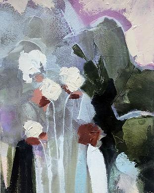 christie gregory.may flowers.oil on heav