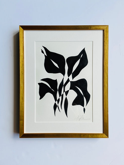 black and white botanical 8