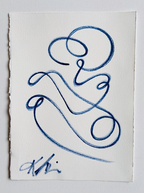 continuous line portrait figure I
