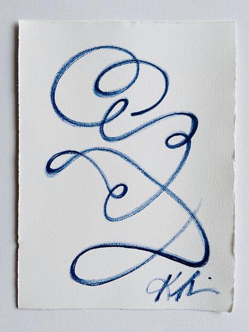 continuous line portrait figure II