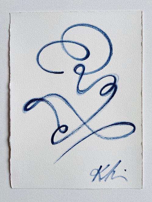 continuous line portrait figure V