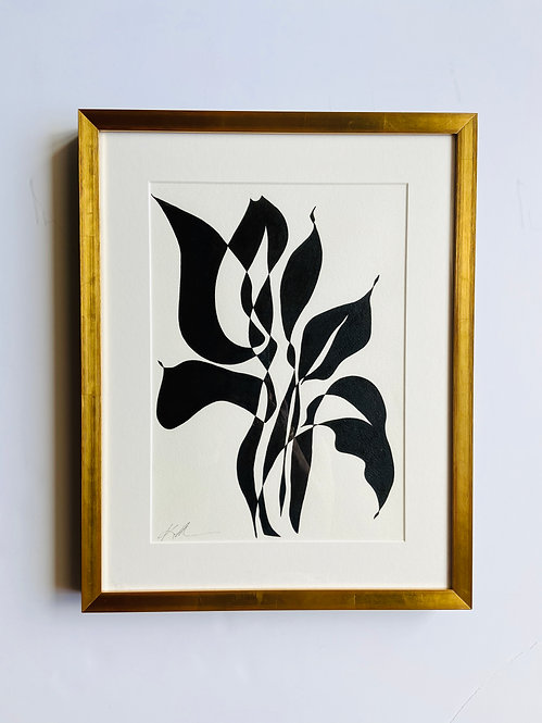 black and white botanical 1