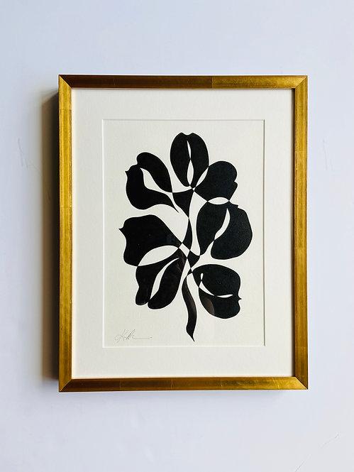black and white botanical 2