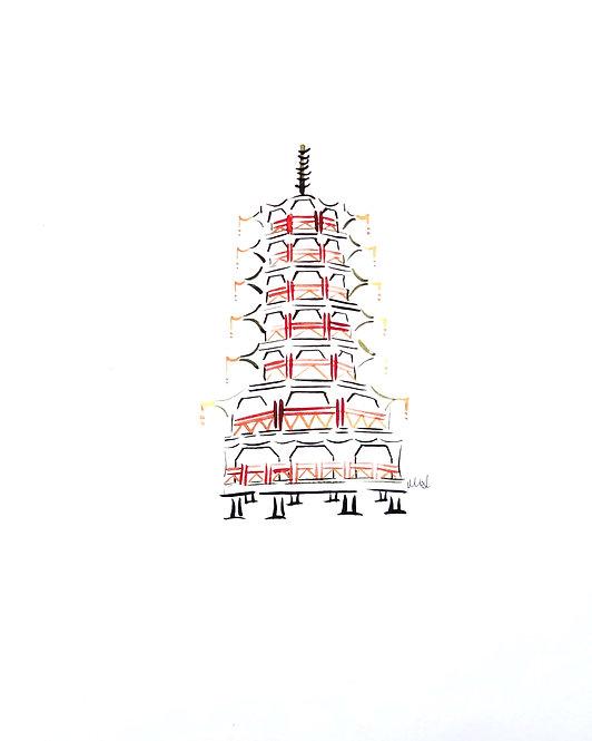 Set of 4 Medium Pagodas