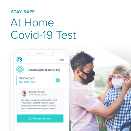 At Home PCR Nasal Test for your Family!