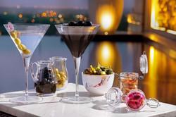 Martini & olives at dusk