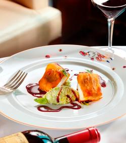 crispy black cod with leek fondue