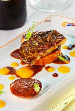 Foie gras with mango puree