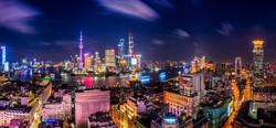 Midnight sun in Shanghai