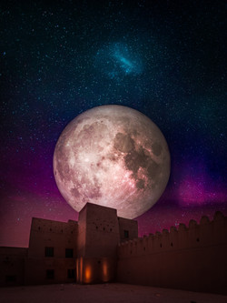 Al Ain in the moon