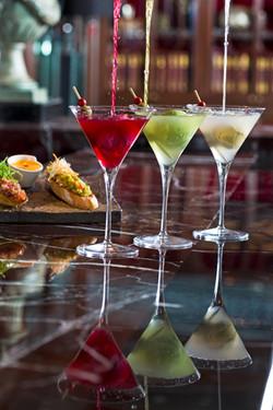 Martini and crostini