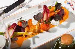 roasted vegetables with black truffle