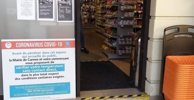Cannes : les supermarchés prennent la température de leurs clients