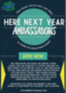 Here Next Year | Ambassador Program