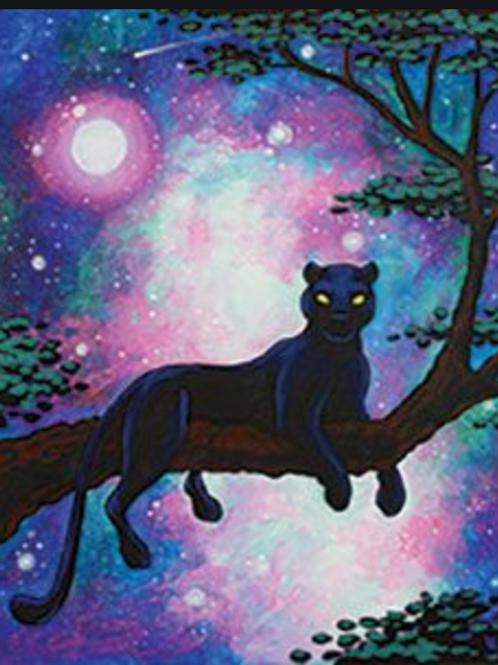 Cosmic Panther Painting Kit