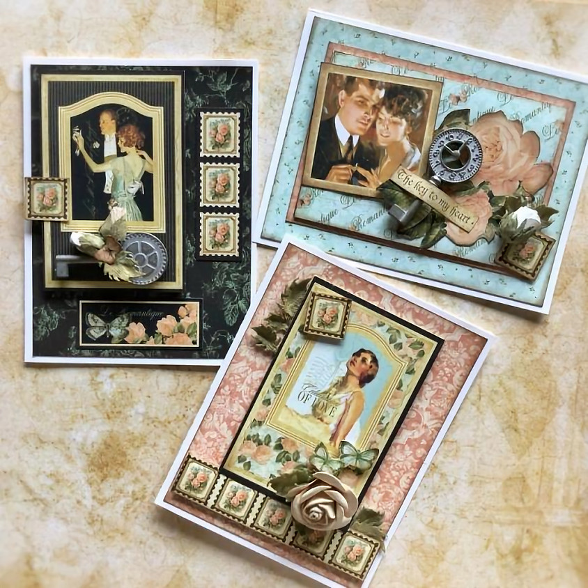 Card Club G45: Le Romantique Interactive Front Flip-up Cards