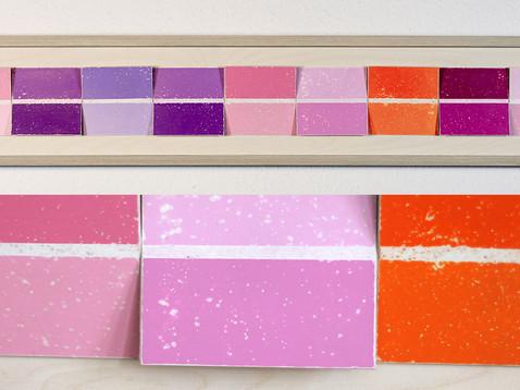 Farbwahl II /// Erle, lasiert, 19 x 105 cm, 2012