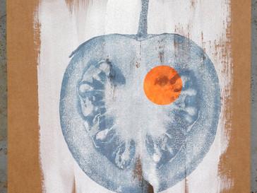 Tomate (Darmzotten) /// Transferdruck auf Wellpappe, 39 x 29 cm, 2016