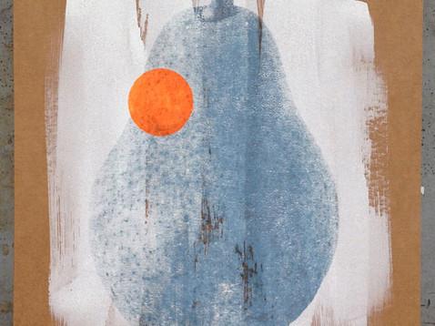 Birne (Mastdarm) /// Transferdruck auf Wellpappe, 39 x 29 cm, 2016