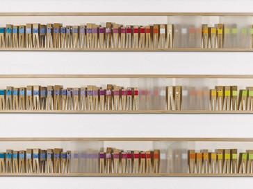 Bunte Gesellschaft /// Kirsche natur, 16 x 155 cm, 2013