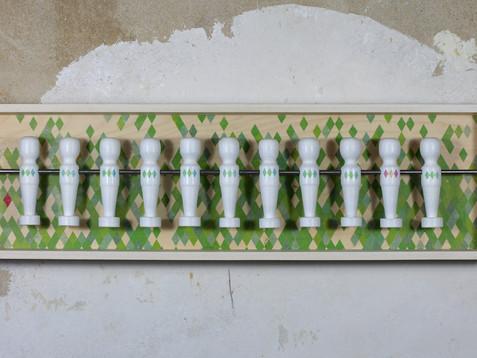 ELF - E11F /// Esche, gekalkt, 19 x 70 cm, 2014