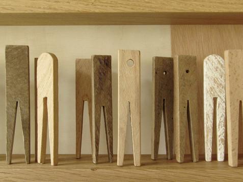 K(l)ammerspiel /// Eiche + Buche, natur, 15 x 200 cm, 2012