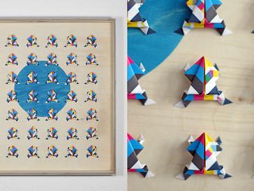 Druckfrosch /// Birke Multiplex, 54 x 58 cm, 2013