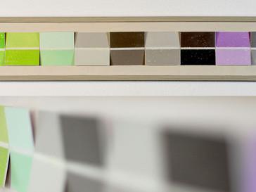 Farbwahl III /// Erle, lasiert, 19 x 105 cm, 2012