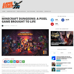 Guest writer for GAMESTART ASIA (Game Review)   2020