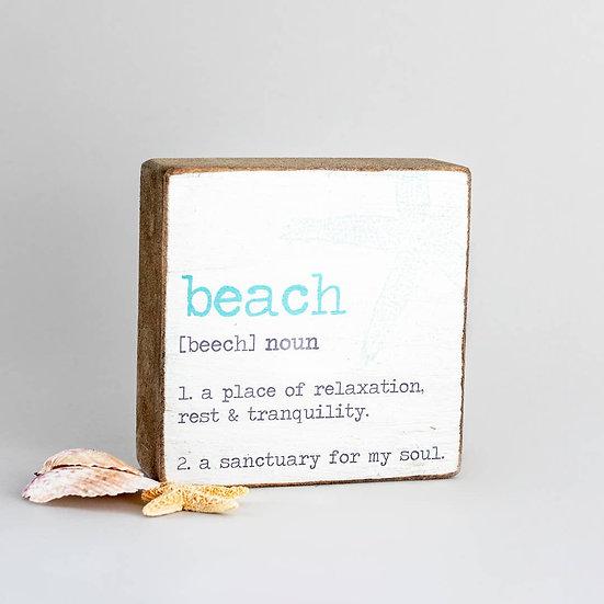 Rustic Square Block - Beach Definition