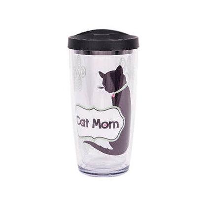 16oz Thermal Drinkware - Cat Mom