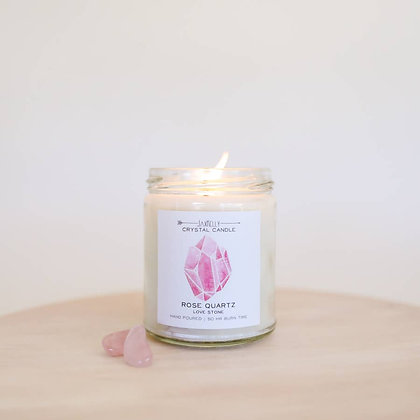 Crystal Candle - Rose Quartz (Love Stone)