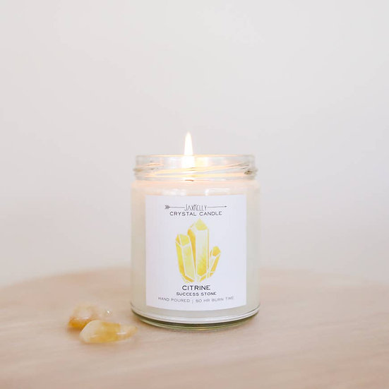 Crystal Candle - Citrine (Success)
