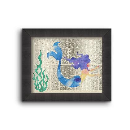 Mermaid with Seaweed  5X7