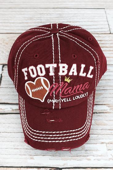 Hat - Football Mama (Maroon)