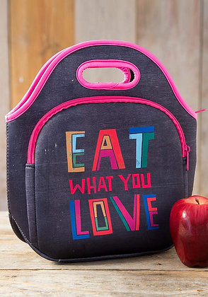 Eat What You Love Neoprene Lunch Bag