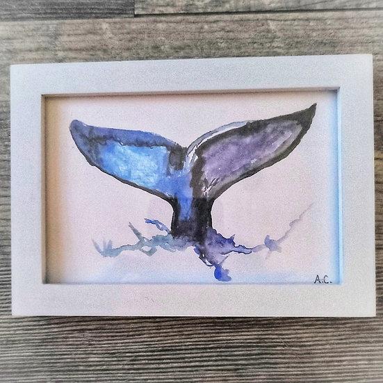 Framed Watercolor Print 4x6 - Seaside Solitude
