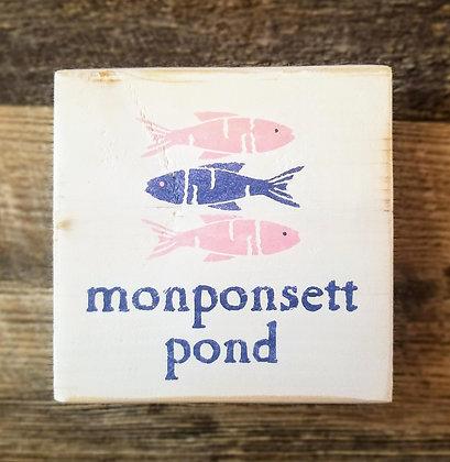 Monponsett Pond Shelf Sitter 5x5