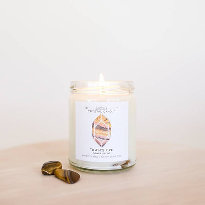 Crystal Candle - Tiger's Eye (Power Stone)