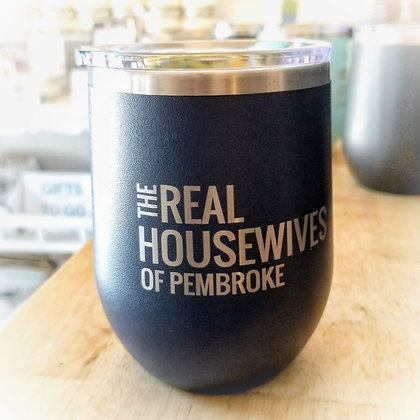 Real Housewives of Pembroke Stainless Tumbler - Navy