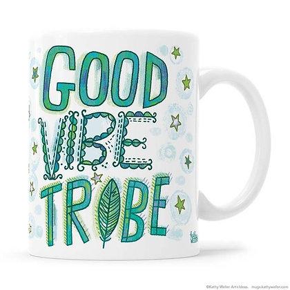 Mug - Peace, Good Vibe Tribe (Green)