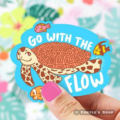 Go With The Flow Vinyl Sticker