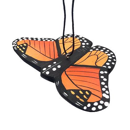 Monarch Butterfly Balsa Ornament